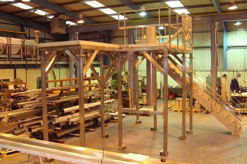 Stainless steel mezzanine floor