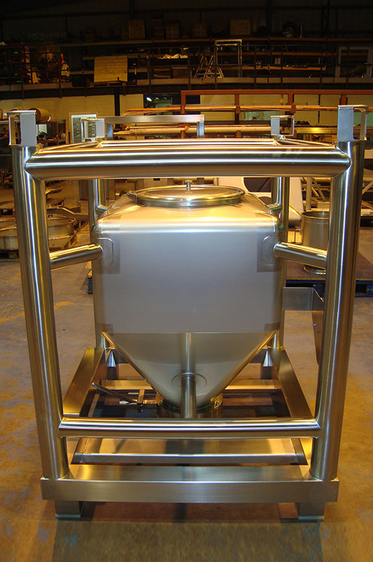 Stainless steel framed IBCs