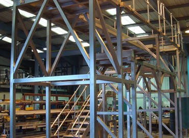 Fabricated mezzanine flooring - stainless steel