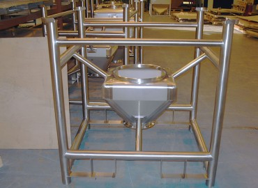 90 litre IBC in stainless steel framework